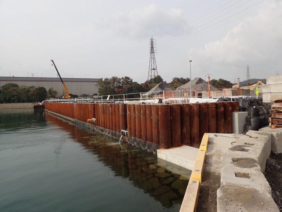 和歌山下津港海岸(海南地区)日方水門取付護岸築造工事(第2工区)
