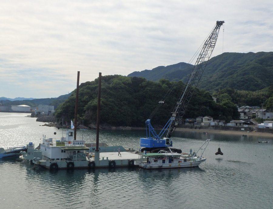 80t吊 クレーン付き台船